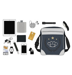 Every day carry man items set2 vector