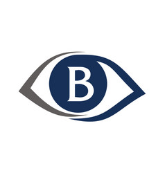 Eye care solutions letter b vector