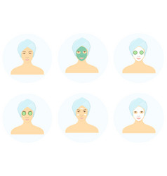 facial mask vector image