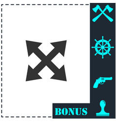 four arrows icon flat vector image