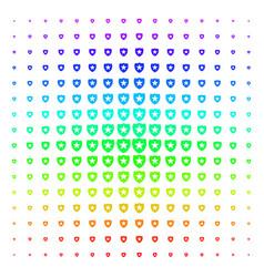 guard icon halftone spectrum grid vector image