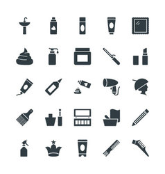 Hair Salon Cool Icons 2 vector