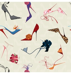 High heels seamless pattern vector image