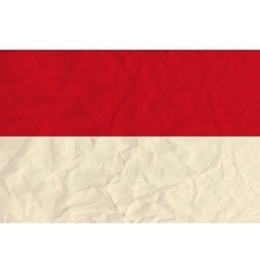 Indonesia paper flag vector