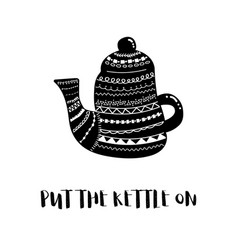 kettle bw vector image