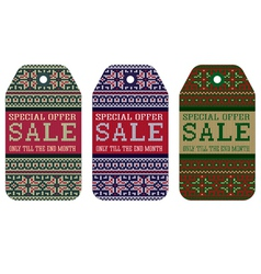 knitting pattern ornament christmas sale vector image