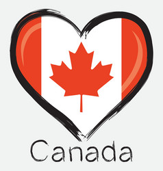 love Canada flag vector image