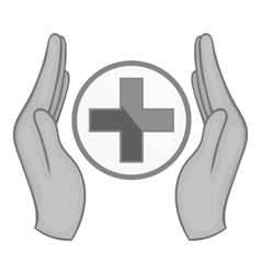 Medical care icon black monochrome style vector