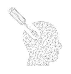 mesh brain tool icon vector image