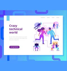 Modern technologies page design vector