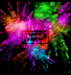 Multicolored explosive clouds powder dye vector