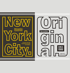 new york with original vector image