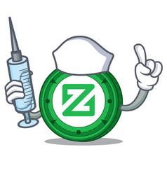 Nurse zcoin character cartoon style vector