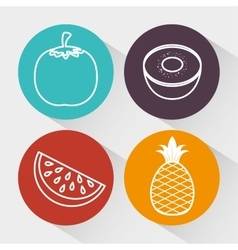 nutrition healthy food icon vector image