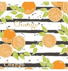 Oranges on gray stripes vector