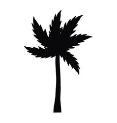 palm tree cartoon vector image