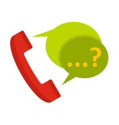 phone with question mark speech bubble icon vector image