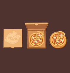 pizza box cardboard carton vector image