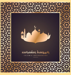Ramadan and eid festival greeting with pattern vector