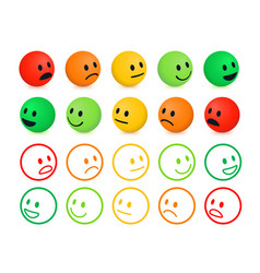 Rating and ranking levels satisfaction vector