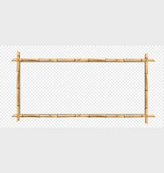 Rectangle brown bamboo wooden border frame vector