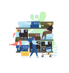 retail concept flat style design vector image