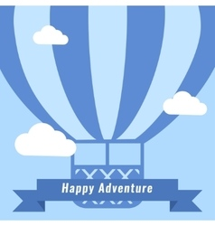 Retro Hot Air Balloon Background vector image