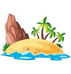 Scene with island in the sea vector image