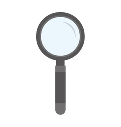 search magnifying glass flat line icon vector image