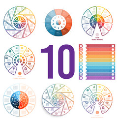 set 8 universal templates for infographics vector image