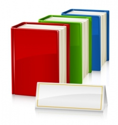 set of books with sign vector image