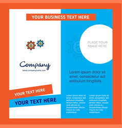 setting protected company brochure template vector image