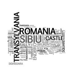 Sibiu word cloud concept vector
