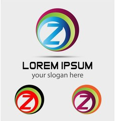 Sign letter Z Letter Z logo vector