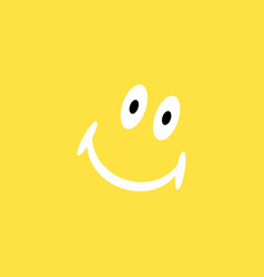 smiling face black on yellow background vector image