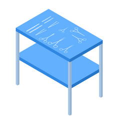 Surgery tool table icon isometric style vector