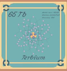 Terbium colorful icon vector