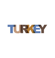 turkey country phrase overlap color no vector image