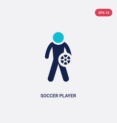 two color soccer player icon from football vector image