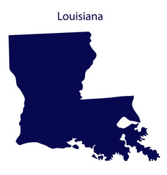 United states louisiana dark blue silhouette of vector