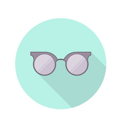 vintage glasses icon design vector image