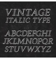 Vintage letters with flourishes Vintage italic vector
