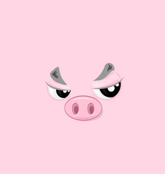 offended piggy vector image vector image