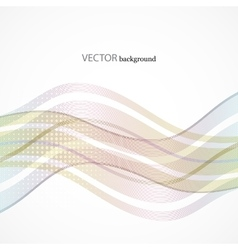 abstract wave line with space of your text vector image