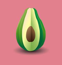 bright avocado vector image
