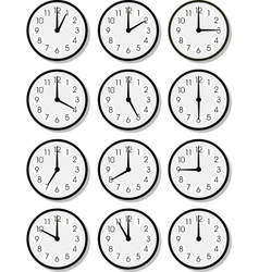 clock faces vector image