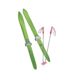 cross country old fashioned skis vector image vector image