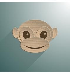 Little baby monkey vector image