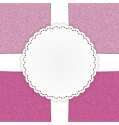 Pink jeans template card vector image vector image