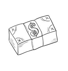 sketch of money vector image vector image